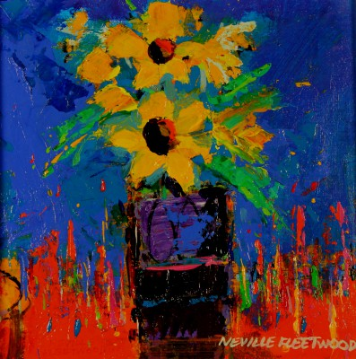 British Artist Neville FLEETWOOD - Yellow Flowers