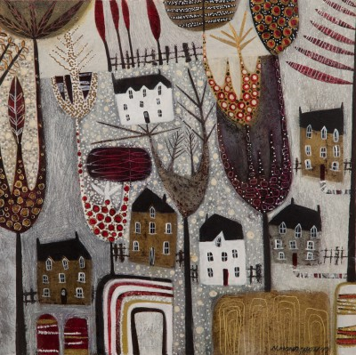'Highland Houses' painting