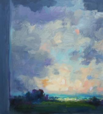 British Artist Norman SMITH - Clearing Sky