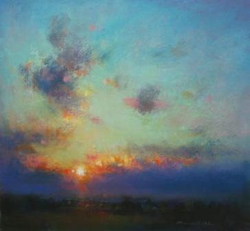 British Artist Norman SMITH - Late Western Light