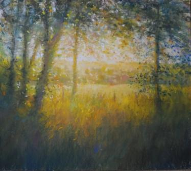 British Artist Norman SMITH - Low Light Over Moss Hill