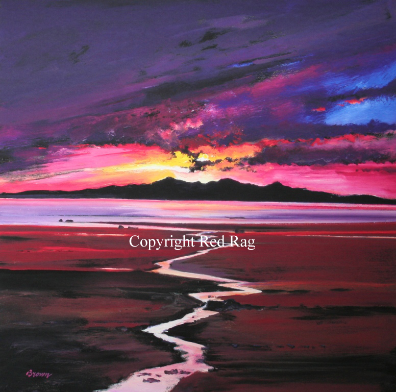 Davy Brown - Sunset over Arran
