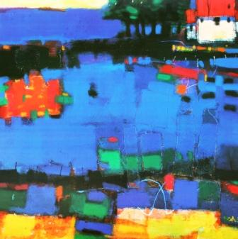Limited Edition Prints Artist Francis Boag - Blue Field