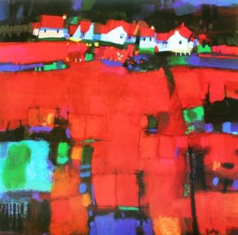 Limited Edition Prints Artist Francis Boag - Red Field