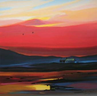 Limited Edition Prints Artist Pam Carter - Settling for the Night