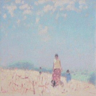 Limited Edition Prints Artist Stephen Brown - Walking with Smudge