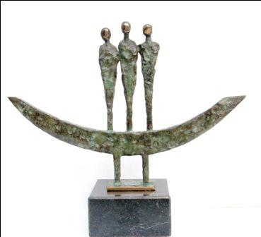 Sculpture and Sculptors Artist Padraic REANEY - Three Boat Men