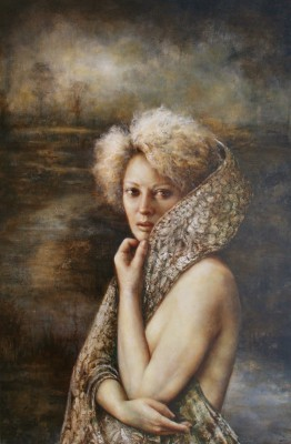 The Veil of Night painting by artist Pam HAWKES