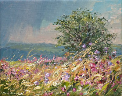 British Artist Mark PRESTON - Passing Shower, Bonsall Moor