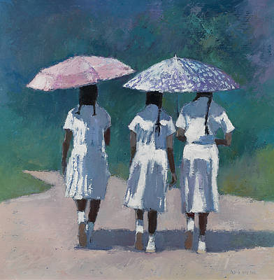 Patrick GIBBS - Girls with Umbrellas, Sri Lanka