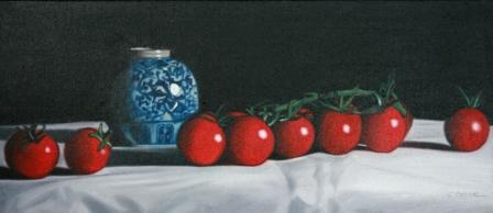 British Artist Paul STONE - Vine Tomatoes