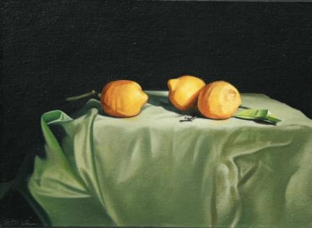 British Artist Paul STONE - Lemons on Green