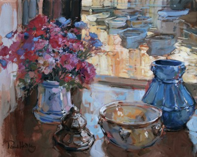 British Artist Paul HEDLEY - Still Life with Boats