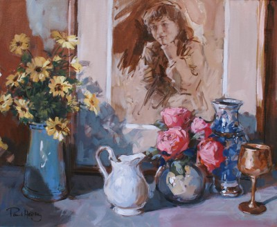 British Artist Paul HEDLEY - Still Life with Drawing