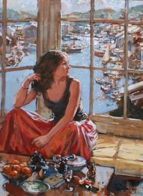 British Artist Paul HEDLEY - Sophie at Falcon House