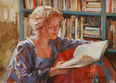 British Artist Paul HEDLEY - She Sat with a Warwick Deeping