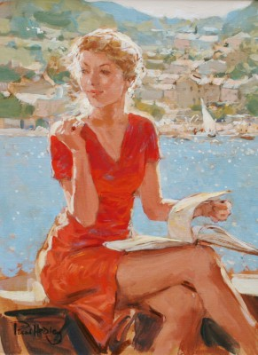 British Artist Paul HEDLEY - Holiday Reading