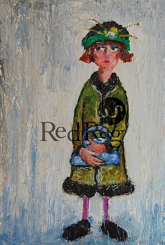 Paul ROBINSON - Lady with Green Hat Contemplating