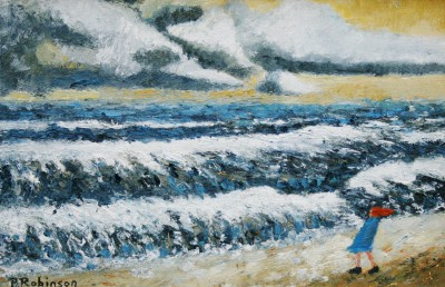 British Artist Paul ROBINSON - A Very Chilly Windy Day