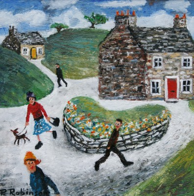 British Artist Paul ROBINSON - The Heart of the Village