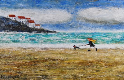 British Artist Paul ROBINSON - Breezy Walk