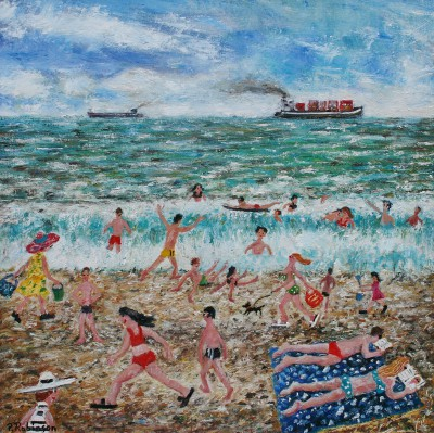 British Artist Paul ROBINSON - Buckets and Bikinis