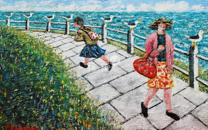 Paul ROBINSON - Two Ladies and Seagulls
