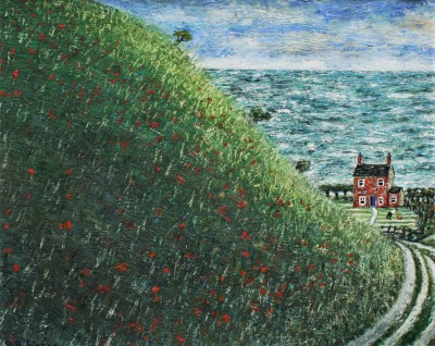 British Artist Paul ROBINSON - House by the Sea