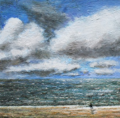 British Artist Paul ROBINSON - Running from the Sea
