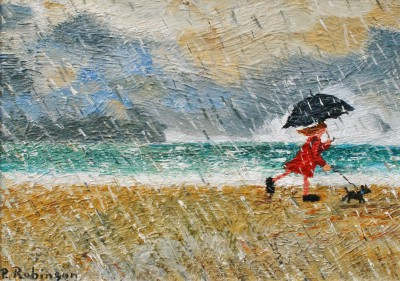 British Artist Paul ROBINSON - A Stroll in the Rain