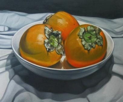 British Artist Paul STONE - Bowl of Persimmon