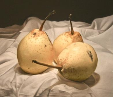 British Artist Paul STONE - Asian Pears Trio