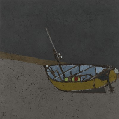 One Boat - St Ives Harbour painting by artist Peter BEESON