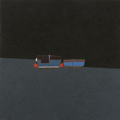 Peter BEESON - Two Blue Boats - St Ives Harbour