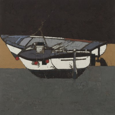 British Artist Peter BEESON - Two Fishing Boats - St Ives Harbour