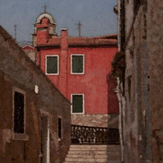 British Artist Peter BEESON - Red House, Rio Marin, Venice