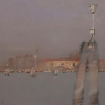British Artist Peter BEESON - Towards the Lido, Venice
