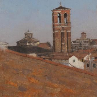 British Artist Peter BEESON - View from the Contarini Tower, Venice