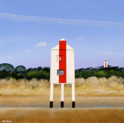Lighthouse at Burnham painting by artist Peter HEARD