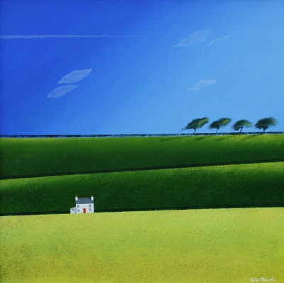 British Artist Peter HEARD - Spring Fields