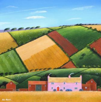 British Artist Peter HEARD - Hill Farm by Exford