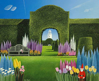 British Artist Peter HEARD - Lighthouse Garden