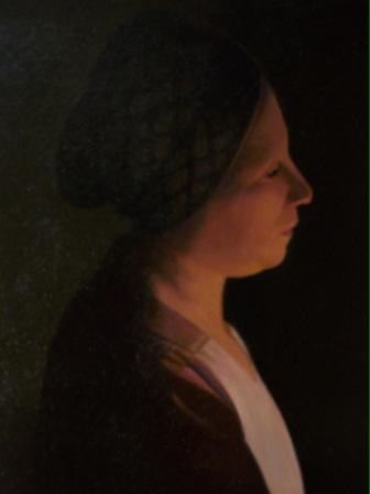 British Artist Peter KELLY - Woman by Candlelight