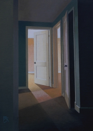 British Artist Peter KELLY - Open Doors in the Empty Building