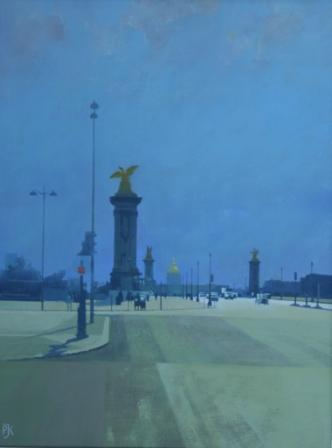 British Artist Peter KELLY - Alexander III Bridge, Paris