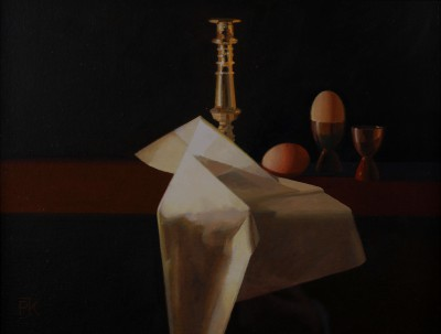 British Artist Peter KELLY - Brown Eggs and Gold
