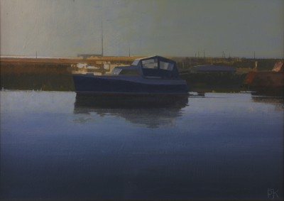 British Artist Peter KELLY - Calm Evening