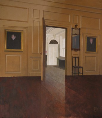 British Artist Peter KELLY - Chair by the Open Door