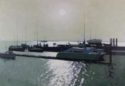 British Artist Peter KELLY - Sunlight on the River Crouch