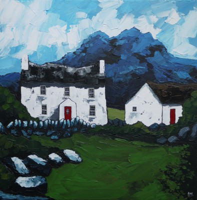Gwern gor Isaf, North Wales  painting by artist Peter MORGAN